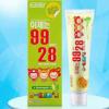 韩国进口 O-ZONE9928 8无儿童牙膏60g 青苹果味正品防蛀少量吞咽