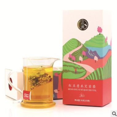 红豆薏米芡实茶 祛湿热去湿气茶三角包袋泡茶厂家代发贴牌代加工