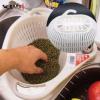 批发水槽处带挂钩的家用便捷塑料洗菜盆 可滤水 3元内促销小礼品