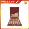 锌合金电镀真金木盒包装国宝熊猫30枚纪念金条,纪念章