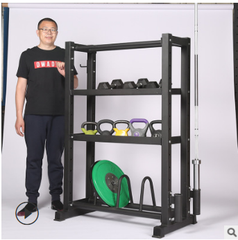 厂家定制健身器材综合储物架 杠铃片健身器材体育用品四层架子