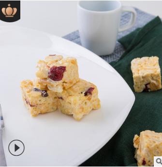 牛轧奶芙过年送礼品糕点休闲食品散装原味蔓越莓喜糖5斤牛轧奶芙