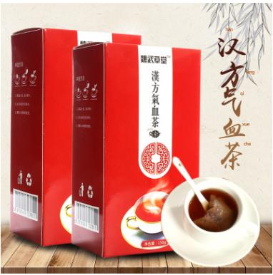 魏武草堂气血茶 150g盒装厂家直销OEM代工苦荞茶汉方气血茶袋泡茶