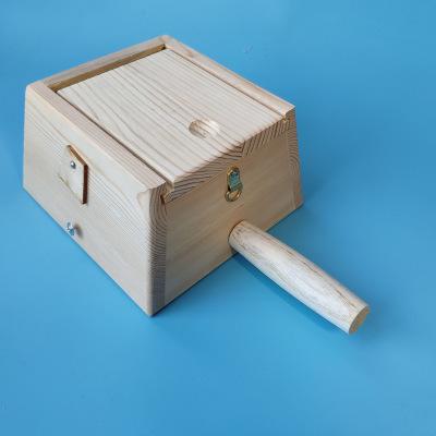 木制实木艾灸盒四柱方四孔4插针温灸盒随身炙家用腹背腰部温灸器