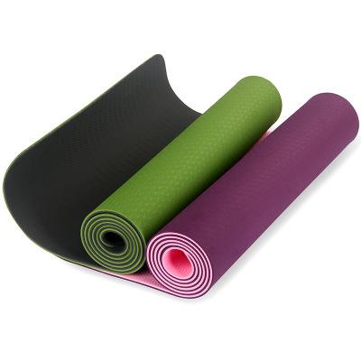 tpe单双色体位线6mm瑜伽垫无味防滑健身垫平板支撑瑜伽垫厂家