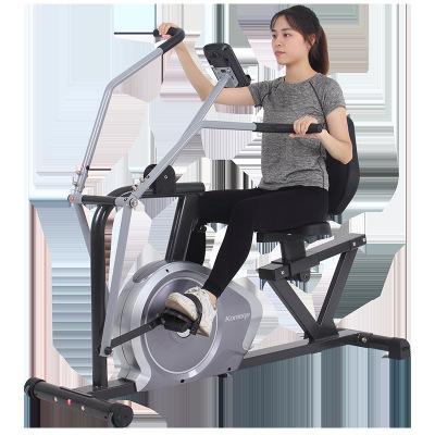 四肢联动康复训练器材脚踏车卧式健身车家用动感单车室内健身车